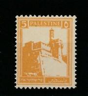 """1927 5 M ORANGE PALESTINE CITADEL JERUSALEM COLLECTION Of Mideast MintNH - Palestina"