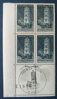 Bloc De 4 Timbres Cathédrale De Rodez N° 1504 De 1967 Avec Tampon 1 Jour Et Signature  Graveur André Spitz - Altri