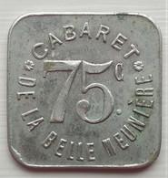 Monnaie De Nécessité - 75 - Paris - Cabaret De La Belle Meunière - 75c - - Monetary / Of Necessity