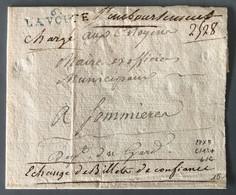 France Griffe 6. LA VOUTE (bleu) Sur Grand Fragment En CHARGE, Echange De Billet De Confiance - (B2208) - 1801-1848: Precursors XIX