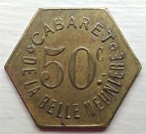 Monnaie De Nécessité - 75 - Paris - Cabaret De La Belle Meunière - 50c - - Monetary / Of Necessity