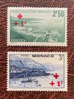 Phare Lighthouse Vuurtoren Leuchttürme Faro Fari MONACO 1940 Série Croix Rouge NEUF** MNH - Lighthouses