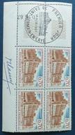 Bloc De 4 Timbres Château De Saint Germain En Laye N° 1505 De 1967 Avec Tampon 1 Jour Et Signature  Graveur Camy - Altri