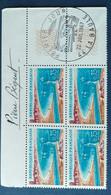 Bloc De 4 Timbres La Baule N° 1502 De 1967 Avec Tampon 1 Jour Et Signature  Graveur Pierre Bequet - Altri