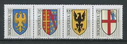 263 ALBANIE 2005 - Yvert 2803/06 - Armoirie Blason Ecusson Embleme - Neuf **(MNH) Sans Trace De Charniere - Albanien