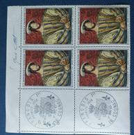 Bloc De 4 Timbres François I N° 1518 De 1967 Avec Tampon 1 Jour Et Signature  Graveur Pierre Cottet - Altri
