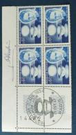 Bloc De 4 Timbres Marie Curie N° 1533 De 1967 Avec Tampon 1 Jour Et Signature  Graveur Pheulpin - Altri