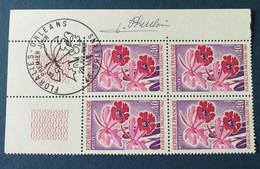 Bloc De 4 Timbres Floralies D'Orléans N° 1528 De 1967 Avec Tampon 1 Jour Et Signature  Graveur Pheulpin - Altri