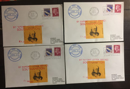 FRANCE : 4x The Great Post Office Strike JAN 20 1971  Ferries / Ships - Staking