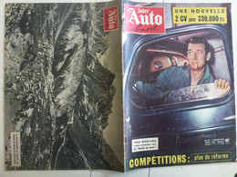 Auto Inter Sport Juillet 1955  Yves Montand La Route De Nuit Caravane Du Tour De France Cyclisme Galy - Auto/Moto