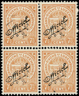 Luxembourg Luxemburg 1919 Ecusson Bloc 4x 7,5c. OFFICIEL Neuf MNH** - 1907-24 Coat Of Arms
