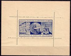 MONTBRISON -BLOC GOMME** EXPO. PHIL. Du 23 Mai 48 - Souvenir De MARTIN BERNARD Typographe - Insurrection 12 Mai 1839 - Briefmarkenmessen