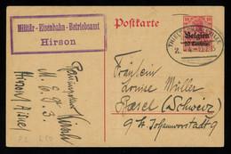TREASURE HUNT [02975] German WWI Occ. In Belgium 1915 Feldpost Card From Tielt To Basel, Switzerland With 10c On 10 Pf - [OC38/54] Occ. Belg. In Ger.