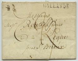 Marque Linéaire HOLLANDE / LàC 1803 De Rotterdam Pour Le Légué Près Saint-Brieuc. Commande De Fer Feuillard Et D'acier. - 1801-1848: Precursors XIX