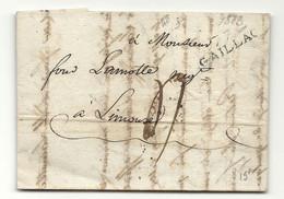 Tarn - Gaillac Pour Lamotte à  Limoux. MP 77/GAILLAC. LAC De 1813 - 1801-1848: Precursors XIX