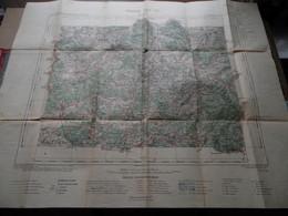 """VESOUL - Luxeuil Feuille XXV-17 """" Tirage 1907 - 1/100.000 ( Lib. Hachette ) Voir Scans / Photos SVP ! - Europe"""
