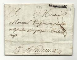 Tarn - Gaillac Pour Bordeaux. LAC De 1782 - 1801-1848: Precursors XIX