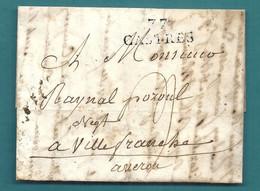 Tarn - Castres Pour Villefranche (Aveyron). LAC Ecrite En 1824 à ROQUECOURBE - 1801-1848: Precursors XIX