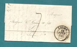 Tarn - Lavaur Pour Lyon. CàD Type 3. 1843. Cote 22e - 1801-1848: Precursors XIX