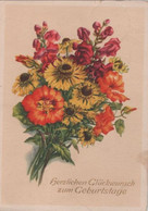 Zum Geburtstage Bunte Blumen - Birthday