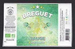 Etiquette De Bière Blanche  -  Sauge  -  Brasserie Breguet  à  Revel  (31) - Beer