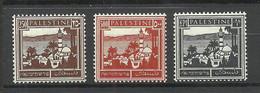 PALESTINA 1942 Michel 71 - 73 MNH - Palestina