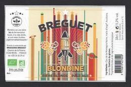 Etiquette De Bière Blonde Pale Ale -  Blondine  -  Brasserie Breguet  à  Revel  (31) - Beer