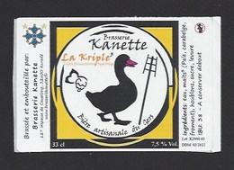 Etiquette De Bière Type Belge  -  La Kriple 3 -  Brasserie Kanette à Auradé  (32) - Beer