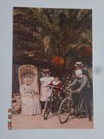 PHOTO PHOTOGRAPHIE LES AUTOCHROMES LUMIÈRES FAMILLE VÉLO BICYCLETTES - Fotografia