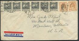JORDANIE - N° 157 (2) + 202 (6) / LETTRE AVION D'AMMAN LE 6/7/1950 POUR USA VIA BEYROUTH - TB - Jordanie