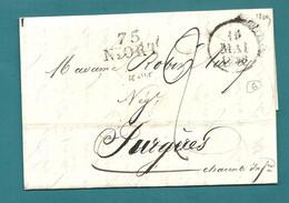 Deux Sèvres - Niort . Collections De 6 MP. Différentes Taxes, Différentes MP De Couleurs //Grosse Cote - 1801-1848: Precursors XIX