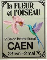 """Stickers Autocollant Pour Le 2eme Salon International """"La Fleur Et L'Oiseau"""" à Caen Les 23 Avril Au 2 Mai 1976 - B. Plantes Fleuries & Fleurs"""