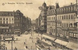 BRUXELLES - Boulevard Adolphe MAX - Trams - Oblitération De 1935 - Phototypie A. Dohmen, Bruxelles - Avenues, Boulevards