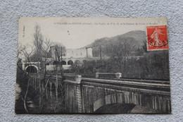 Cpa 1922, Saint Vallier Sur Rhône, Le Viaduc Du P L M Et Le Château De Diane De Poitiers, Drôme 26 - Other Municipalities