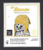 Etiquette De Bière Blonde -  Brasserie Des Aucels  à  Bédarieux  (34) - Beer