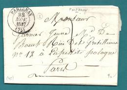 Deux Sèvres - Parthenay. Belle Collections De Cachet à Date. Différentes Taxations. - 1801-1848: Precursors XIX