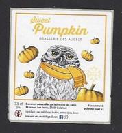 Etiquette De Bière Sweet Pumpkin  -  Brasserie Des Aucels  à  Bédarieux  (34) - Beer