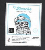 Etiquette De Bière Blanche  -  Brasserie Des Aucels  à  Bédarieux  (34) - Beer