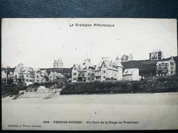 22 ,perros Guirec ,un Coin De La Plage De Trestraou En 1906  ,les Villas - Perros-Guirec