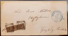 Germany Braunschweig Brunswick 1861 RARE FRANKING With RARE CANCELLATION, As Per Scan, Ex RARE - Brunswick