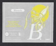 Etiquette De Bière Blonde   -  Brasserie La B  à  Lussault Sur Loire   (37) - Beer