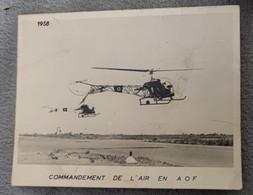 Carte Double Commandement De L'air En AOF - Helicopters