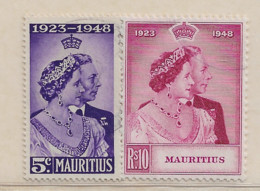 Colonies Britanique : Ile Maurice Année 1948  N° 127/128 Timbres Oblitéré Cote : 17,50 € - Mauritius (...-1967)