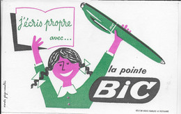 BUVARD  NEUF ANNEES 50 's     STYLO BIC SIGNE ANNABRIC - Stationeries (flat Articles)