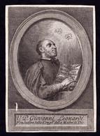 Incisione: VEN. P. GIOVANNI LEONARDI  - XVIII/XIX Sec. - RI-INC - Religione & Esoterismo
