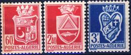 176 + 180 +181 ARMOIRIES  NEUF*     ANNEE 1942 - Ungebraucht