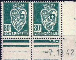 189 En PAIRE DATEE  ARMOIRIES  NEUF**    ANNEE 1942 - Ungebraucht