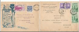 Monaco, 2 Lettres Monte Carlo - Zürich, 1 Lettre Avec Publicité (1942) - Lettres & Documents