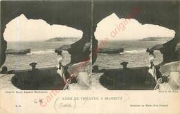 64.  BIARITZ . Loge De Thétre . Cate Stéréo . - Biarritz