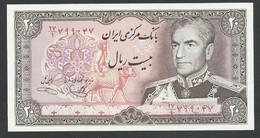 IRAN. 20 RIALS. ND(1982). SHAH PALAVI TYPE VIII. SIGN.18. Pick 100c. UNC / NEUF - Iran
